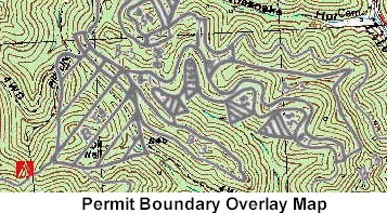 Image of a portion of a permit boundary overlay map.